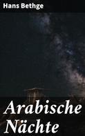 Hans Bethge: Arabische Nächte