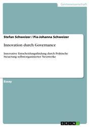 Innovation durch Governance - Innovative Entscheidungsfindung durch Politische Steuerung selbstorganisierter Netzwerke
