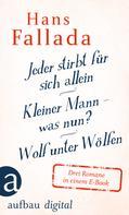 Hans Fallada: Jeder stirbt für sich allein / Kleiner Mann – was nun? / Wolf unter Wölfen