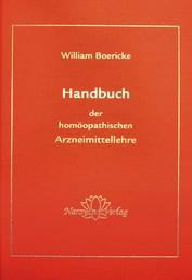 Handbuch der homöopatischen Arzneimittellehre