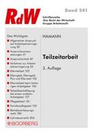 Wolfgang Hamann: Teilzeitarbeit