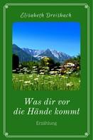 Elisabeth Dreisbach: Was dir vor die Hände kommt