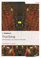 L. Wegmann: Fracking. Hoffnungsträger oder politischer Zielkonflikt?
