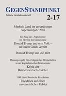 GegenStandpunkt Verlag München: GegenStandpunkt 2-17