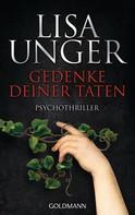 Lisa Unger: Gedenke deiner Taten ★★★