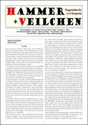 Hammer + Veilchen Nr. 7 - Flugschriften für neue Kurzprosa