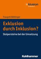 Traugott Böttinger: Exklusion durch Inklusion?