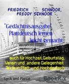 """Friedrich Schnoor: """"Gedächtnisausgabe"""" Plattdeutsch lernen leicht gemacht"""