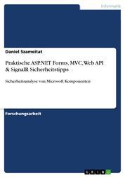 Praktische ASP.NET Forms, MVC, Web API & SignalR Sicherheitstipps - Sicherheitsanalyse von Microsoft Komponenten