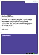 Annina Schäflein: Welche Herausforderungen ergeben sich bei der Versorgung wohnungsloser Menschen mit einer Alkoholabhängigkeit in Deutschland?