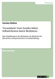 """""""Gesundsein"""" trotz Sozialer Arbeit. Selbstreflexion durch Meditation. - Eine Einführung in die Meditation als Methode der physischen und psychischen Gesunderhaltung"""