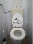 Ein Mensch: WC Sprüche