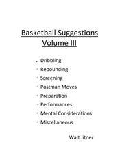 Basketball Suggestions - Volume III