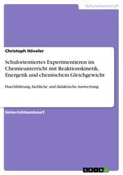 Schulorientiertes Experimentieren im Chemieunterricht mit Reaktionskinetik, Energetik und chemischem Gleichgewicht - Durchführung, fachliche und didaktische Auswertung