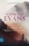 Nicholas Evans: Die wir am meisten lieben ★★★★