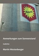 Martin Westenberger: Anmerkungen zum Sonnenstand