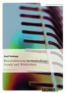 Axel Hodapp: Resozialisierung im Strafvollzug. Gesetz und Wirklichkeit