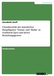 Charakteristik der männlichen Hauptfiguren 'Tristan' und 'Marke' in Gottfrieds Epos und deren Beziehungsgenese