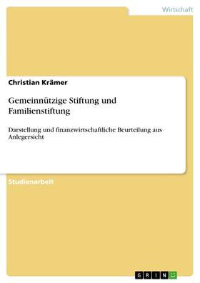 Gemeinnützige Stiftung und Familienstiftung