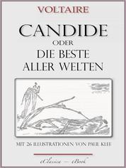"""Candide oder """"Die beste aller Welten"""" - Mit 26 Illustrationen von Paul Klee"""