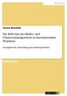 Carina Reinfeld: Die Relevanz des Risiko- und Chancenmanagements in internationalen Projekten