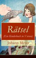 Johann Meyer: Rätsel (Ein Kinderbuch in Versen)
