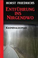 Horst Friedrichs: Entführung ins Nirgendwo: Kriminalroman