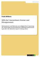 Frank Wilkens: SEPA für Unternehmen, Vereine und Privatpersonen