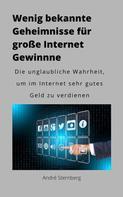 André Sternberg: Wenig bekannte Geheimnisse für große Internet Gewinne