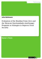 Julia Bultmann: Evaluation of the Brazilian Fome Zero and the Mexican Oportunidades Anti-hunger Programs as Strategies to Improve Food Security