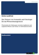 Stefan Landfried: Der Nutzen von Semantik und Ontologie für das Wissensmanagement