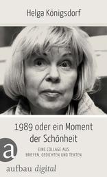 1989 oder Ein Moment Schönheit - Eine Collage aus Briefen, Gedichten, Texten