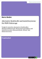 Mario Wedler: Alternative Kraftstoffe und Antriebssysteme für PKW-Fahrzeuge