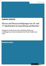 Hexen und Hexenverfolgungen im 16. und 17. Jahrhundert in Luxemburg und Kurtrier - Vergleich des Prozesses der Catherine Theis aus Useldingen mit dem Geständnis des Niclas Fiedler aus Trier