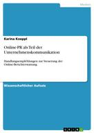 Karina Koeppl: Online-PR als Teil der Unternehmenskommunikation