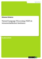 Natural Language Processing (NLP) in wissenschaftlichen Instituten