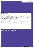 Christoph Schönle: Sportschäden, Belastung und Überlastung der Wirbelsäule im Sport