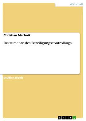 Instrumente des Beteiligungscontrollings
