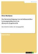 Elena Wasiljewa: Die Berücksichtigung von nichtfinanziellen Leistungsindikatoren im (Konzern-)Lagebericht