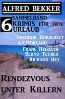 Alfred Bekker: Sammelband 6 Krimis für den Urlaub Januar 2018: Rendezvous unter Killern