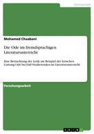 Mohamed Chaabani: Die Ode im fremdsprachigen Literaturunterricht