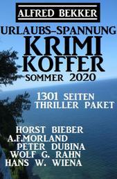 Urlaubs-Spannung Krimi Koffer Sommer 2020: Thriller-Paket - 1301 Seiten