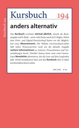 Kursbuch 194 - anders alternativ