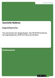 Jugendsprache - Von Aalcatchen bis Zungenkugel - Das PONS Wörterbuch der Jugendsprache 2008 im Fokus der Realität