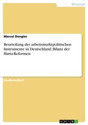 Beurteilung der arbeitsmarktpolitischen Instrumente in Deutschland. Bilanz der Hartz-Reformen