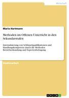 Mario Hartmann: Methoden im Offenen Unterricht in den Sekundarstufen