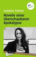Isabella Feimer: Novelle einer überschaubaren Apokalypse - Literatur-Quickie
