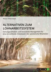 Alternativen zum Lohnarbeitssystem. Führungsverhalten und innovatives Management für eine sinnstiftende Arbeitswelt - Der autotelische Mitarbeiter