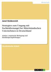 Strategien zum Umgang mit Fachkräftemangel bei Mittelständischen Unternehmen in Deutschland - Analyse, empirische Befragung und Handlungsempfehlungen