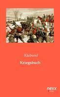 Klabund: Kriegsbuch